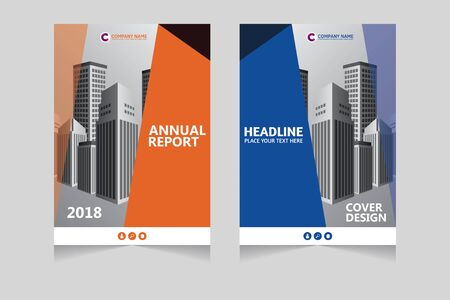 Annual report, pamphlet, presentation, brochure. Front page, book cover layout design. Cover design template. Vetores