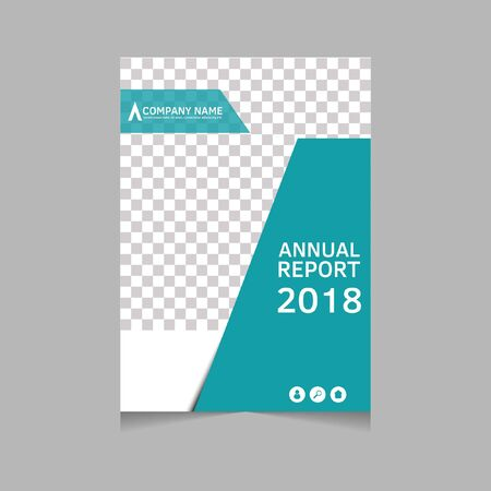 Annual report, flyer, presentation, brochure. Front page, book cover layout design. Design layout template in A4 size . Abstract cover template. Stok Fotoğraf - 136330877