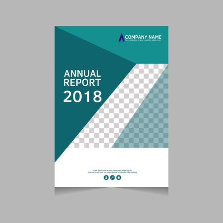 Annual report, flyer, presentation, brochure. Front page, book cover layout design. Design layout template in A4 size . Abstract cover template. Ilustracja