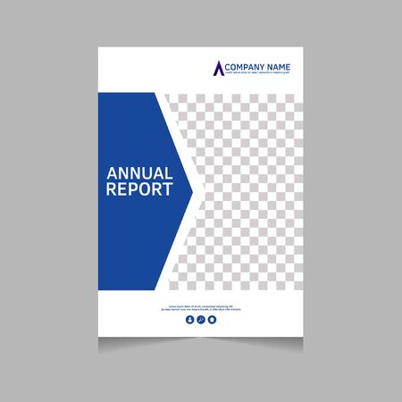 Annual report, flyer, presentation, brochure. Front page, book cover layout design. Design layout template in A4 size . Abstract cover template. Çizim