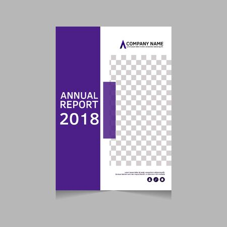 Annual report, flyer, presentation, brochure. Front page, book cover layout design. Design layout template in A4 size . Abstract cover template. Stock Illustratie