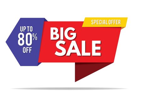 Verkauf-Banner. Big Sale Banner Template-Design. Verkauf und Rabatt. Vektor-Illustration.