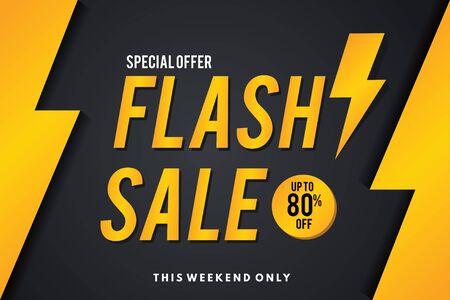 Verkoopbanner. Flash verkoop sjabloonontwerp voor spandoek.
