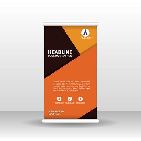 Roll-up-Banner-Design-Broschüre-Flyer-vertikale Vorlage, Vektor-X-Banner und Straßengeschäfts-Flaggen-Banner, Abdeckungspräsentation abstrakter geometrischer Hintergrund vertikales Layout.