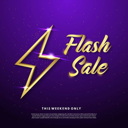 Flash sale banner template design. Abstract sale banner. Vector illustration.