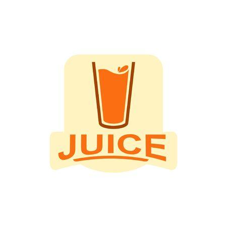 Juice with unique illustration. Ilustração