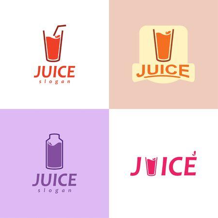 Juice Logo. Set of Juice Logo. Orange Juice Logo Design.
