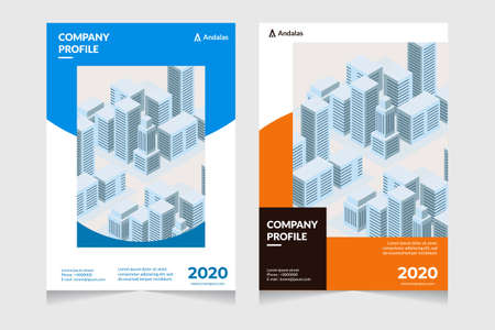 Company profile cover design. Annual report template. Front page, book cover layout design. Abstract cover design. Çizim