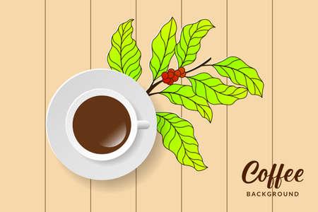 Coffee seamless pattern background design. Coffee bean pattern Ilustração