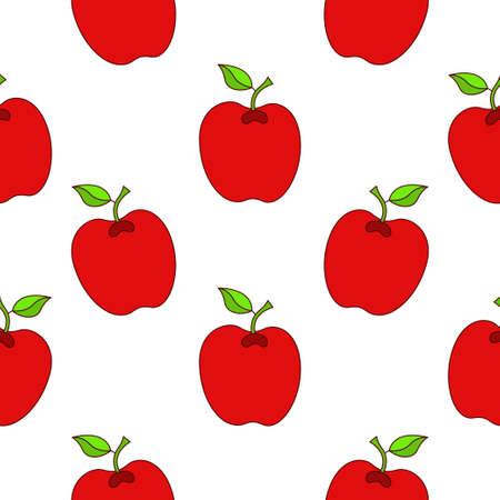 Apple seamless pattern design. Apple fruit pattern background. Fruit seamless pattern isolated.