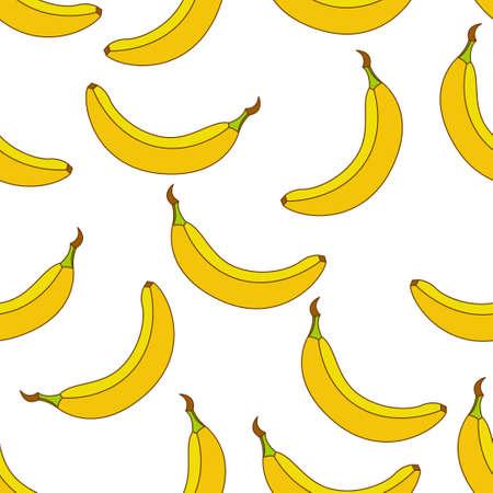 Banana seamless pattern design. Banana fruit pattern background. Fruit seamless pattern isolated.