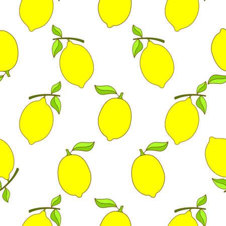 Lemon seamless pattern design. Lemon fruit pattern background. Fruit seamless pattern isolated.