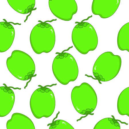 Coconut seamless pattern design. Coconut fruit pattern background. Fruit seamless pattern isolated.