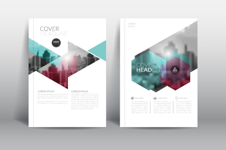 Cover Design template, annual report cover, flyer, presentation, brochure. Front page design layout template with bleed in A4 size. Multi colors with abstract background templates. Иллюстрация