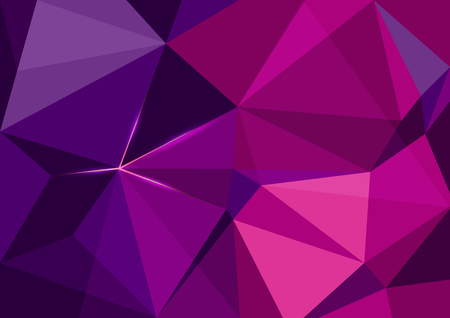 Purple magenta polygonal mosaic with light glows Background, Vector illustration, Creative Business Design Templates