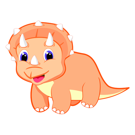 Cute baby triceratops dinosaur