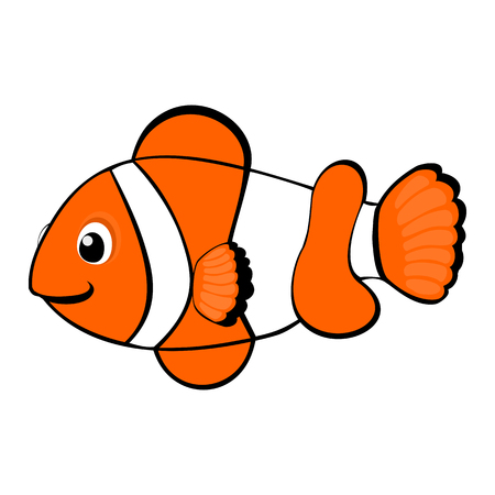colorful fish: Clown fish cartoon Illustration