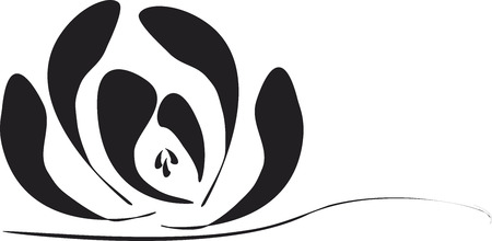 Sumi-e Blossom Water Lily Lotus Illustration
