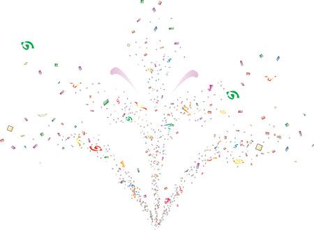 parade confetti: Fuente de confeti  Vectores