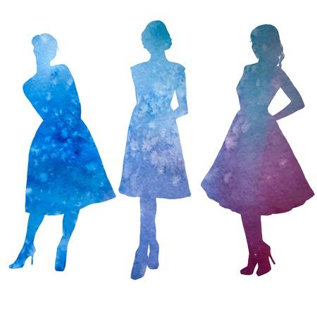 the top model: female, model, watercolor