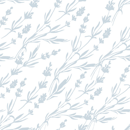 lavender coloured: Provence lavender pattern decor flowers vector colored