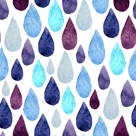 tessellate: Vector watercolor pattern with water colored  drops Illustration