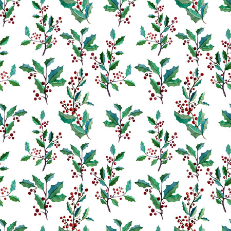 fon: Beautiful vector pattern with berries on white fon