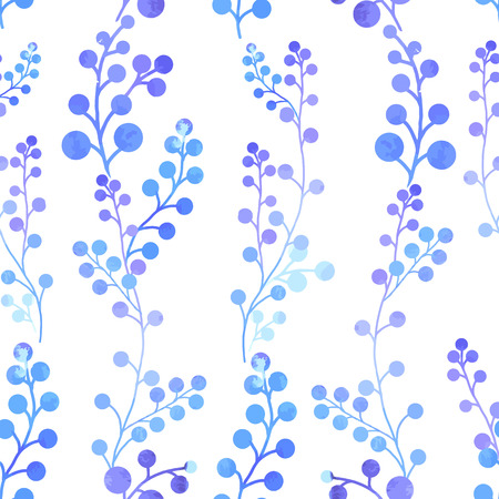 pastel like: Beautiful watercolor vector pattern with abstract plants
