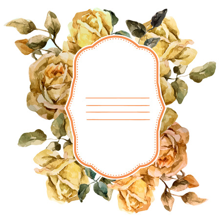 fon: Beautiful vector frame with pink flowers on white fon Illustration