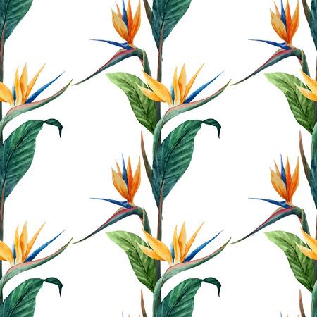 熱帯の美しいベクター パターンの白い fon の葉します。