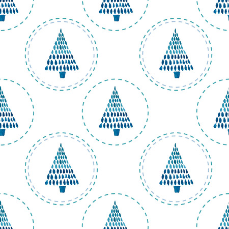 fon: Beautiful christmas vector pattern with birds on white fon Illustration