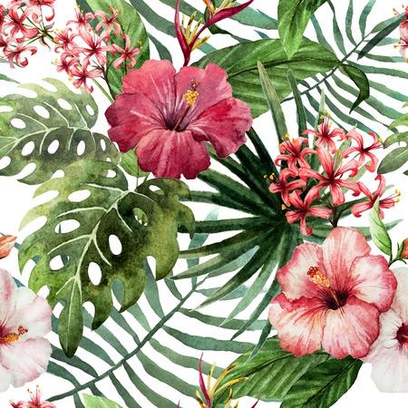 tropicale: tendance illustration objet rose brosse violette exotique