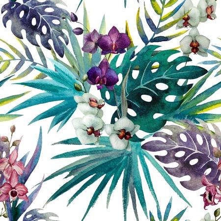flower patterns: trend illustratie roze voorwerp borstel paarse exotische Stockfoto