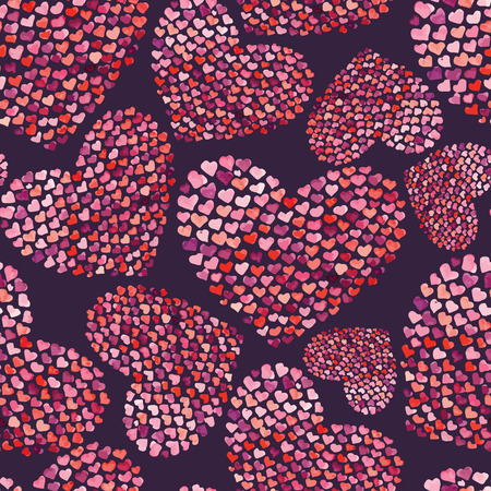 fon: love background wallpaper texture red pink new popularheart pattern watercolor drawing valentines day Illustration