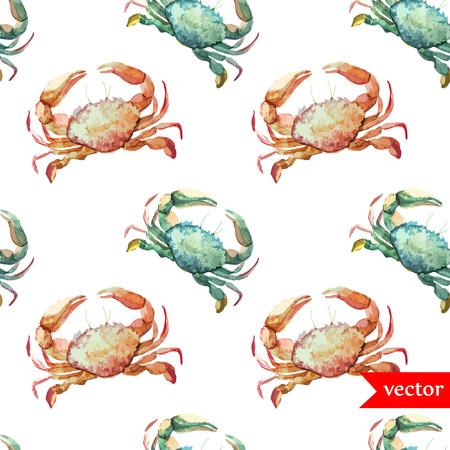 blue banner: Crab pattern