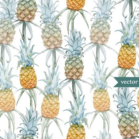 watercolour painting: Tasty pineaple Illustration