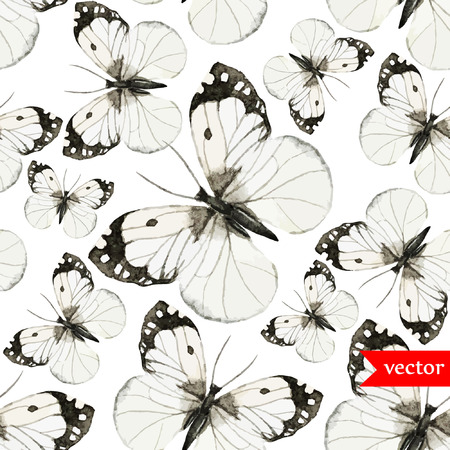 yellow butterfly: Butterfly pattern Illustration