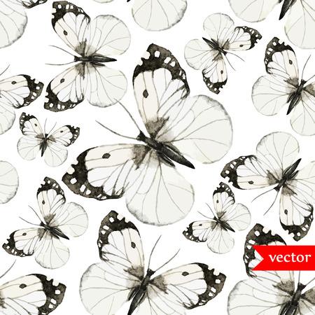 schmetterlinge blau wasserfarbe: Schmetterling Muster