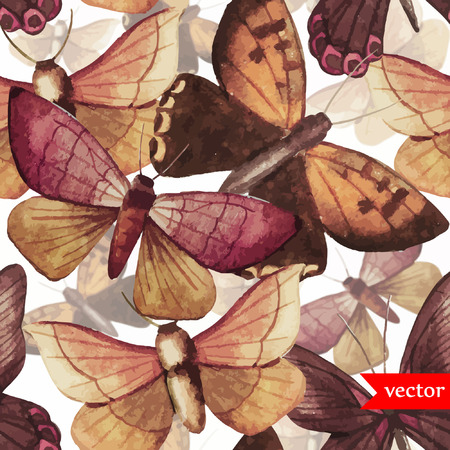 Butterfly pattern Vectores