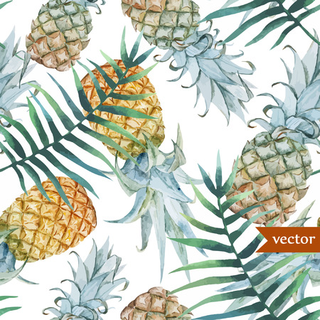 tropical fruits: Pineaple pattern