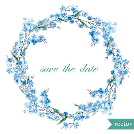 floral wreath: Spring floral frame