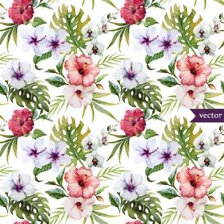 motif floral: Modèle vectoriel magnifique hibiscus