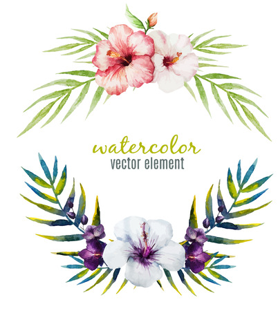 nice: Beautiful vector frame with nice tropical orchids