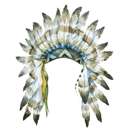 Beautiful image with nice watercolor native hat