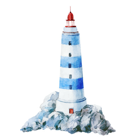 lighthouse: Beautiful vector image with nice watercolor lighthouse