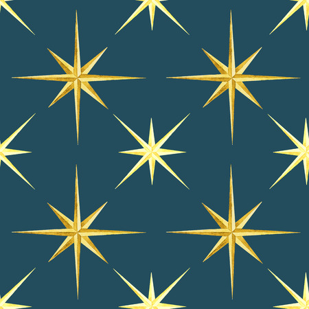 wind rose: Beautiful vector pattern with nice watercolor wind rose.
