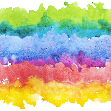 Beautiful vector pattern with nice watercolor colourful stripes