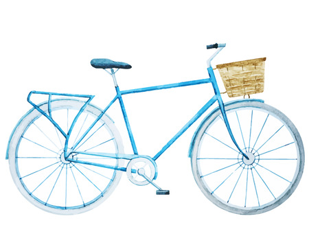 Beautiful image with nice watercolor bike bicycle