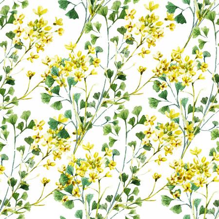 Mooi vector patroon met mooie waterverf bloemen Stock Illustratie