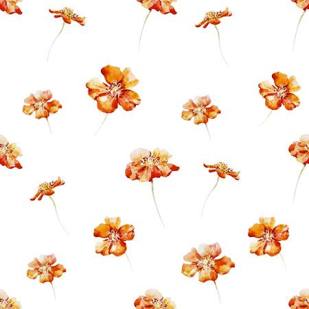 petites fleurs: Beau motif de fleurs d'aquarelle belles